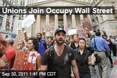 Unions Join Protesters in 'Occupy Wall Street' Movement