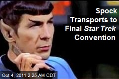 Spock Transports to Final Star Trek Convention