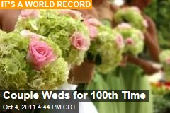 Lauren and David Blair Wed for 100th Time, Setting Guinness World Record