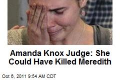 Amanda Knox Judge: She Could Have Killed Meredith
