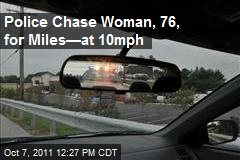 Police Chase Woman, 76, for Miles—at 10mph