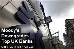 Moody's Downgrades Top UK Banks