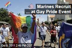 Marines Recruit at Southern California Gay Pride Event