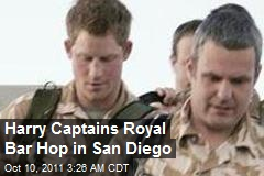 Harry Captains Royal Bar Hop in San Diego