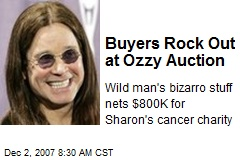 Buyers Rock Out at Ozzy Auction