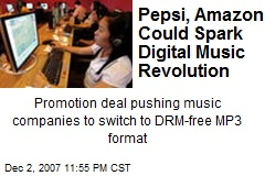 Pepsi, Amazon Could Spark Digital Music Revolution