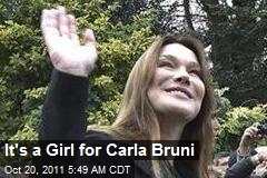 It's a Girl for Carla Bruni