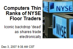 Computers Thin Ranks of NYSE Floor Traders