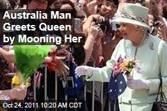 Queen Elizabeth II Visits Australia, Gets Mooned