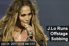 J.Lo Runs Offstage Sobbing