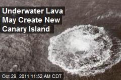 Underwater Lava May Create New Canary Island