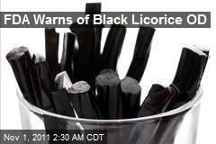 FDA Warns of Black Licorice OD