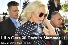 LiLo Gets 30 Days in Slammer