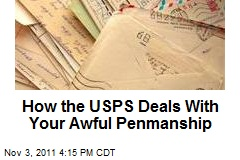 How the USPS Deals With Your Awful Penmanship