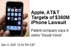 Apple, AT&T Targets of $360M iPhone Lawsuit