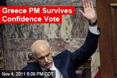 Greece PM Survives Confidence Vote