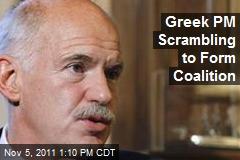 Greece PM Scrambling to Form Coalition