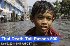 Thailand Flooding: Death Toll Passes 500