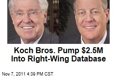 David and Charles Koch Invest Millions in Conservative Database