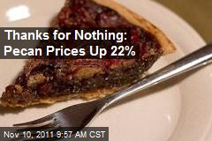 Thanks for Nothing: Pecan Prices Up 22%