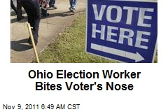 Election Worker Bites Voter's Nose