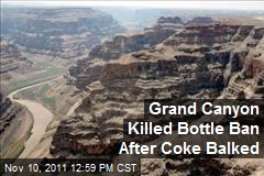 Grand Canyon Water Bottle Ban Squashed By Coke