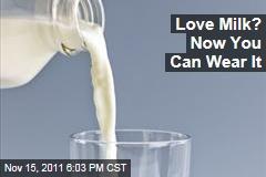 German Designer and Scientist Anke Domaske Makes Wearable Milk