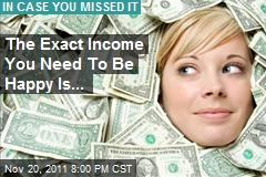 The Exact Income You Need To Be Happy Is...