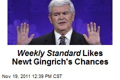 Weekly Standard Likes Newt Gingrich's Chances