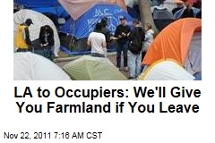 Occupy LA: Officials Promise Office Space, Farmland if Protesters Leave City Hall