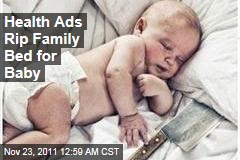 Health Ads Rip Baby 'Co-Sleeping'
