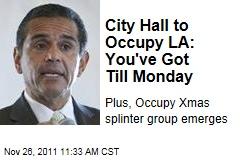 Los Angeles Mayor Antonio Villaraigosa Plans to Evict Occupy LA