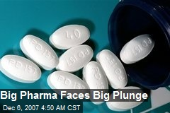 Big Pharma Faces Big Plunge