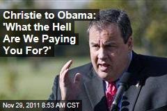 Chris Christie: President Obama a 'Bystander' During Super Committee Effort