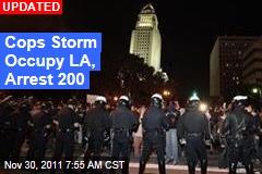 Cops Storm Occupy LA Camp