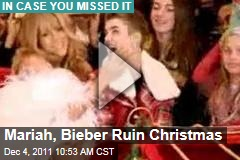 Justin Bieber, Mariah Carey Ruin Christmas in New 'All I Want for Christmas Is You' Music Video