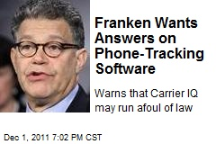 Franken Wants Answers on Phone-Tracking Software