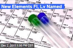 New Elements Fl, Lv, Named as Numbers 114, 116 on Periodic Table