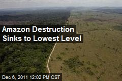 Amazon Destruction Sinks to Lowest Level