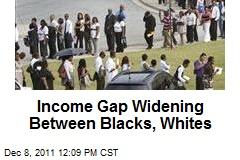 Income Gap Widening Between Blacks, Whites
