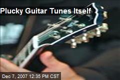 Plucky Guitar Tunes Itself