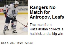 Rangers No Match for Antropov, Leafs