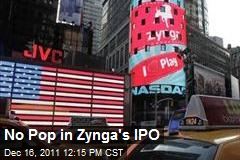 No Pop in Zynga's IPO