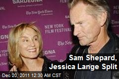 It's Over for Sam Shepard, Jessica Lange