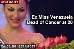 Former Miss Venezuela Eva Ekvall Dies of Breast Cancer at 28