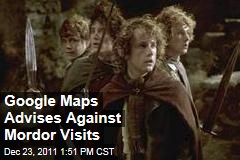 Google Maps Advises Against Walking from Shire to Mordor
