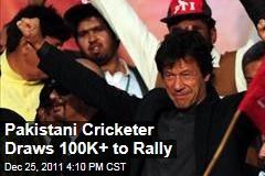 Pakistani Cricketer-Turned-Politician Imran Khan Draws Massive Rally