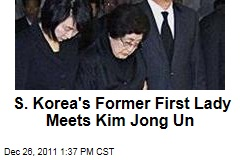 Lee Hee-Ho, South Korea's Former First Lady, Meets With Kim Jong Un