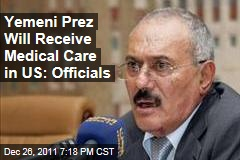 Washington Approves US Medical Care for Yemeni President Ali Abdullah Saleh