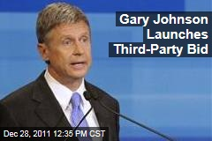 Former New Mexico Governor Gary Johnson Seeks Libertarian Nomination